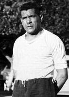 Obdulio Varela, capit�o da sele��o do Uruguai, a seus companheiros momentos ap�s o gol sofrido contra o Brasil na �ltima partida da Copa do Mundo de 1950, no Maracan�