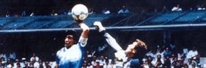 Maradona brilha e decide, com a m�o e com os p�s, o t�tulo mundial a favor da sele��o argentina