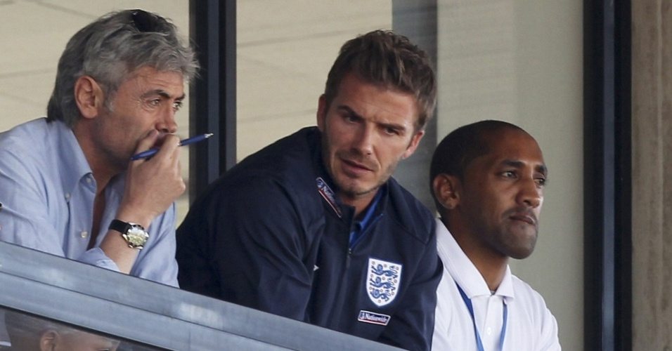 David Beckham observa amistoso nos Estados Unidos na África do Sul
