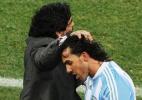"""Tevez se chateia com crítica de Maradona: """"pensei que ia me apoiar"""" - Pedro Ugarte/AFP"""