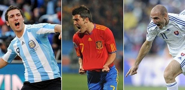 Higuain, Villa e Vittek, artilheiros da Copa até as quartas de final