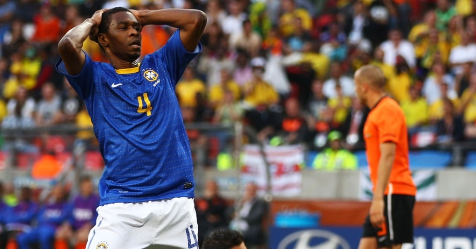Juan durante a partida entre Brasil e Holanda