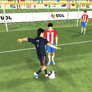 Paraguai 0 x 1 Espanha - gol da Espanha, de David Villa