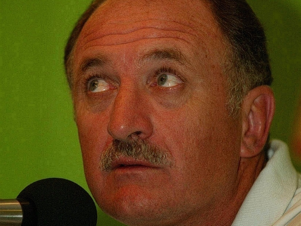 Luiz Felipe Scolari no comando da seleo, em 2002