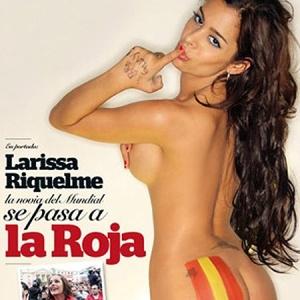 Larissa é fotografada para revista espanhola