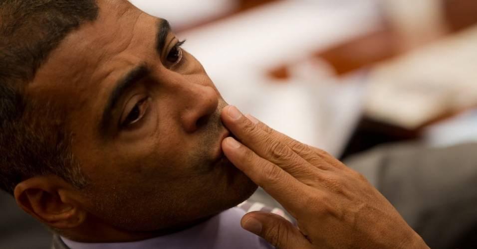 Romário passou mal durante a visita à Arena Pantanal