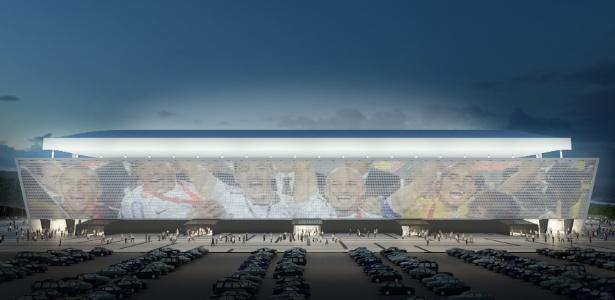 Um enorme telão marcará a área externa do estádio do Corinthians