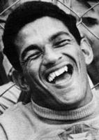 Garrincha durante a comemoração brasileira pela conquista da Copa do Mundo em 1958