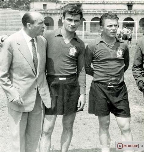 Sandor Kocsis e Ferenc Puskas, lendários jogadores da Hungria