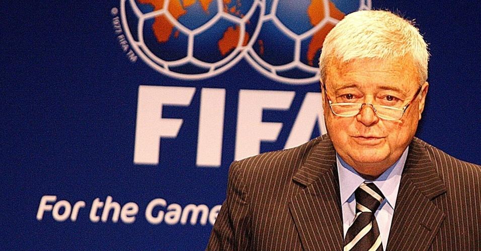 Ricardo Teixeira fala em conferência da Fifa