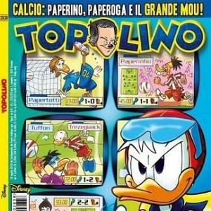 Jogadores em quadrinhos com o Pato Donald