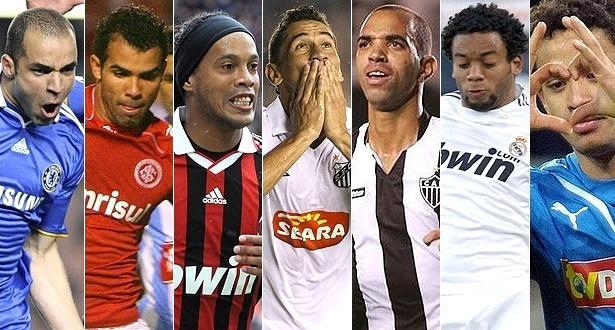 Alex, Sandro, Ronaldinho, Paulo Henrique Ganso, Diego Tardelli, Marcelo e Carlos Eduardo: os sete na lista de espera para a Copa de 2010