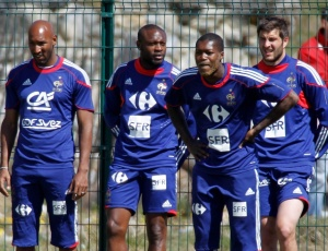 Nicolas Anelka, William Gallas, Djibril Cisse e Andre-Pierre Gignac treinaram normalmente