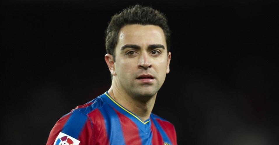Xavi Hernandez, jogador do Barcelona e da seleção da Espanha
