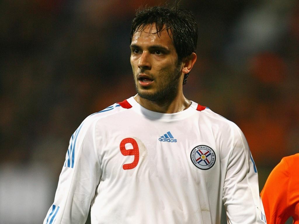 Roque Santa Cruz, jogador da seleção do Paraguai