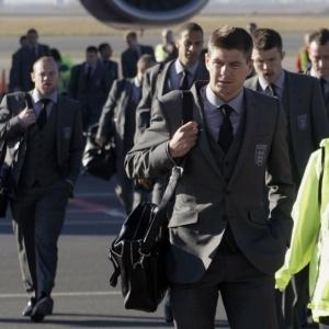 Jogadores da Inglaterra chegam à África do Sul