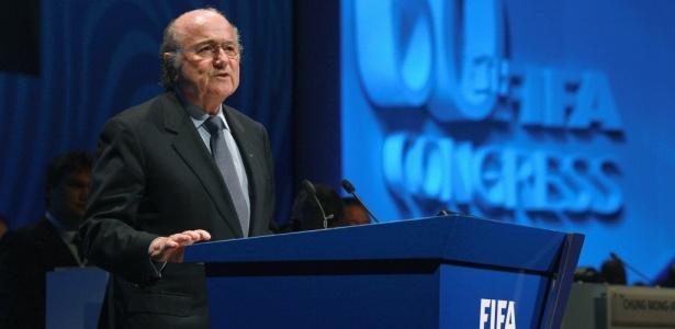 """Blatter apresentou medidas em que promete limpar a corrupção da """"família"""" Fifa - Alexander Hassenstein/FIFA"""