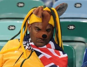 Torcida australiana sofreu com a goleada sofrida pelo time da Oceania para a Alemanha na estreia