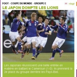 Jornal L'Equipe afirma que Japão domou os Leões