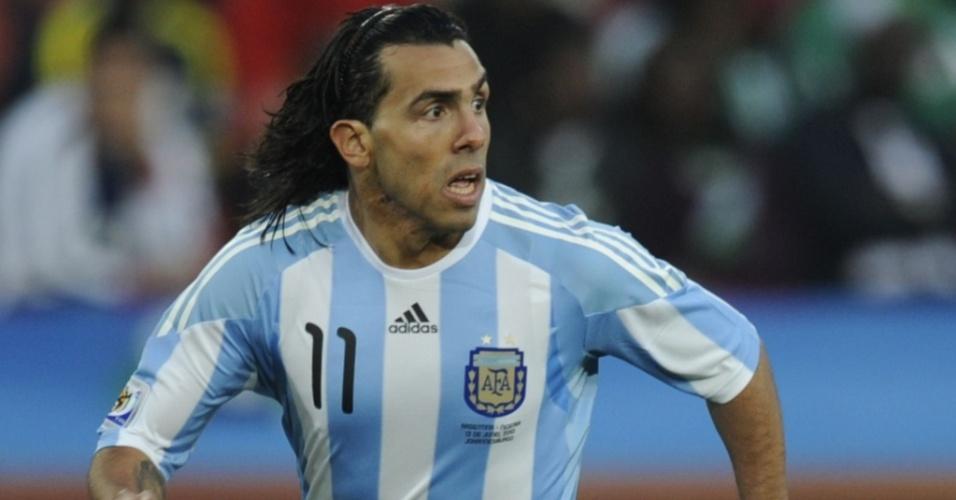 Tevez, jogador da seleção argentina