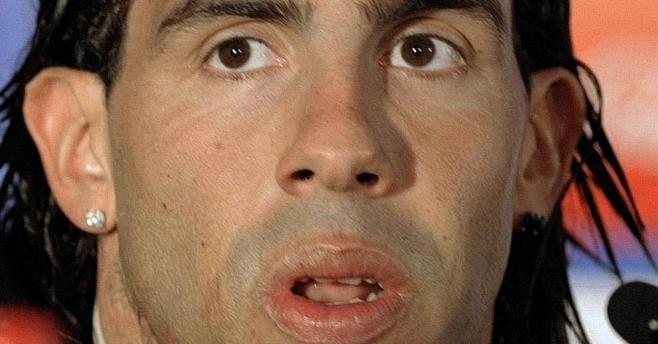 Carlos Tevez, atacante da seleção argentina