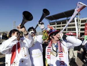 As vuvuzelas são uma febre nos estádios da Copa do Mundo. É raro encontrar um torcedor que não tenha uma nas mãos pronto para fazer barulho