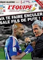Nicolas Anelka xinga o técnico Raymond Domenech