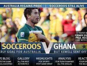 Reprodução do jornal The Australian mostra o incômodo com o vermelho e o orgulho pelo empate
