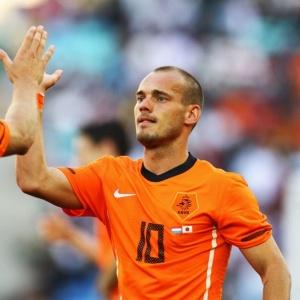 Wesley Sneijder admitiu que a Holanda tem que evoluir, mas elogiou a postura da equipe no jogo