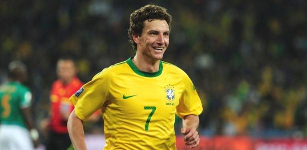 Elano, autor do terceiro gol do Brasil contra a Costa do Marfim, na Copa-2010