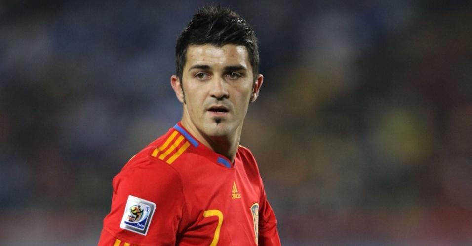 David Villa, atacante da Espanha