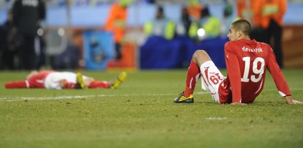 Não adianta só defesa...: Incompetência ofensiva tira Suíça após empate sem gols