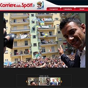 Recepção do italiano Fabio Quagliarella em sua cidade natal é destaque no Corriere dello Sport