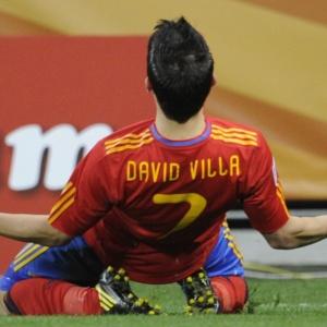 David Villa anotou o seu quarto gol na Copa e é um dos artilheiros, ao lado de Higuaín e Vittek