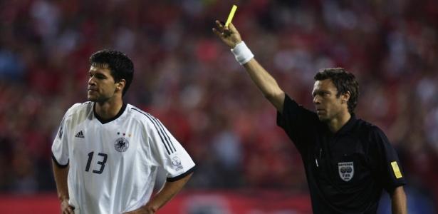 Michael Ballack foi um dos destaques da Alemanha na Copa do Mundo de 2002