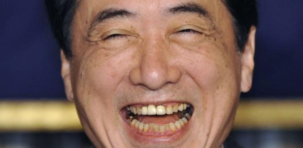 O primeiro-ministro japonês Naoto Kan, que é criticado pela esposa