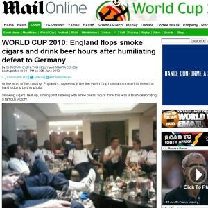 Pós-queda: Jornal flagra suposta farra da seleção inglesa após a eliminação da Copa do Mundo