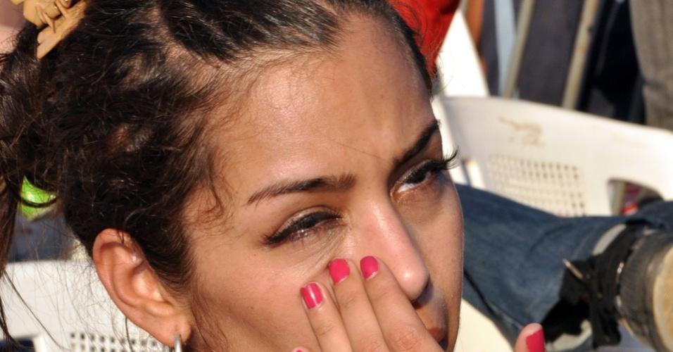 Larissa Riquelme, musa da Copa do Mundo, lamenta eliminação do Paraguai