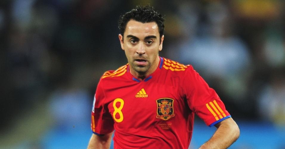 O meia Xavi Hernandez no jogo Espanha x Alemanha