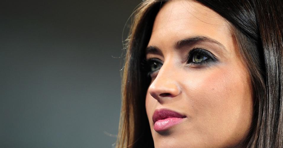 Sara Carbonero, namorada de Casillas, na vitória da Espanha sobre a Alemanha na semi