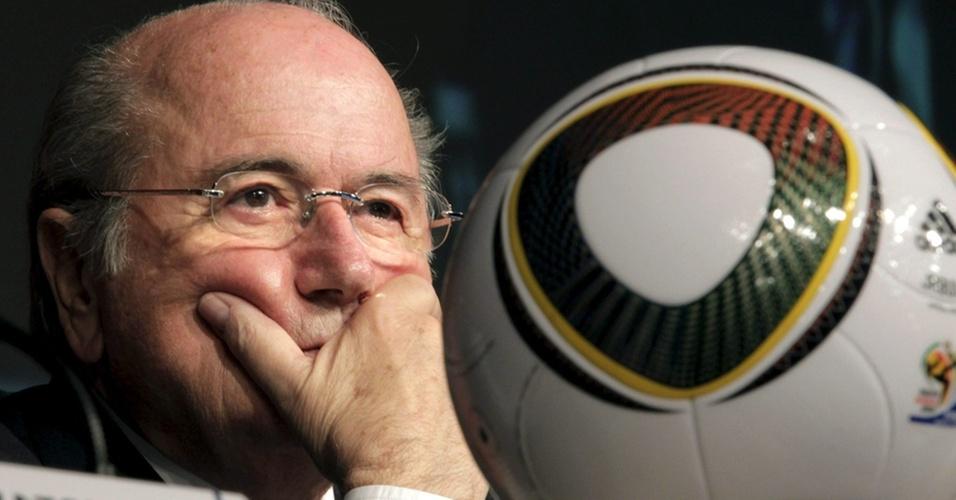 Joseph Blatter concede entrevista coletiva com balanço do Mundial na África do Sul