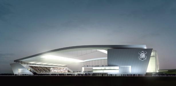 Ilustração de como ficará o estádio quando estiver pronto, no fim de 2013 - Divulgação