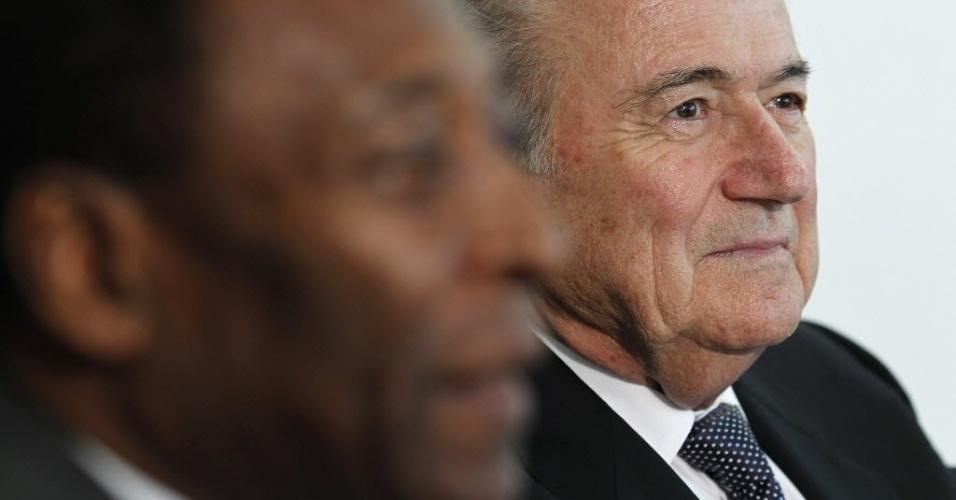 Pelé e Blatter participam de encontro em Brasília com a presidente Dilma Rousseff